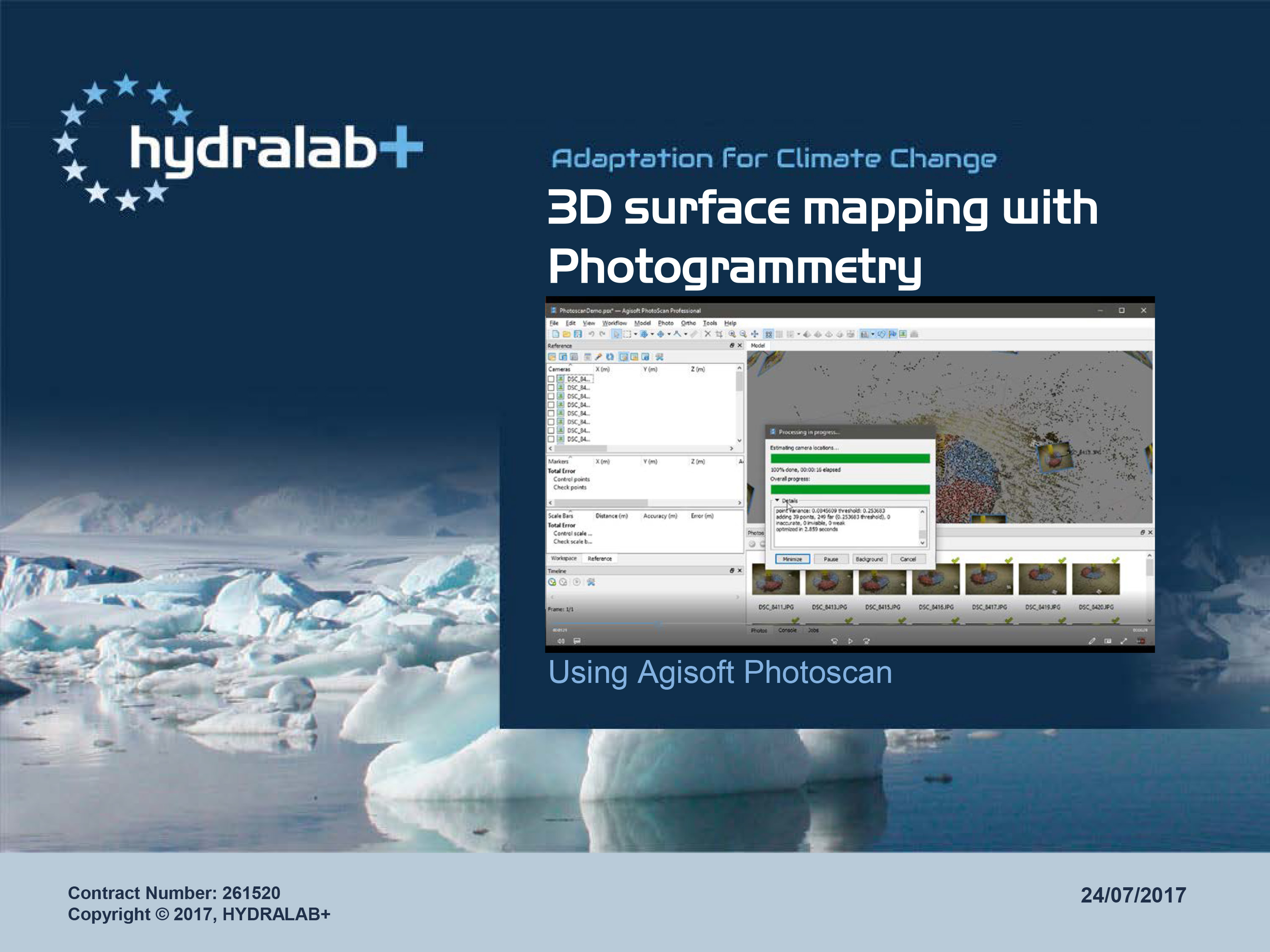 3D surface mapping with Photogrammetry