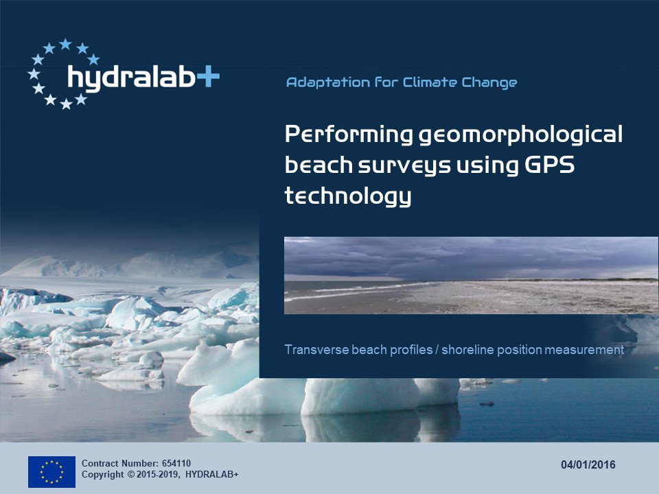Geomorphological beach surveys