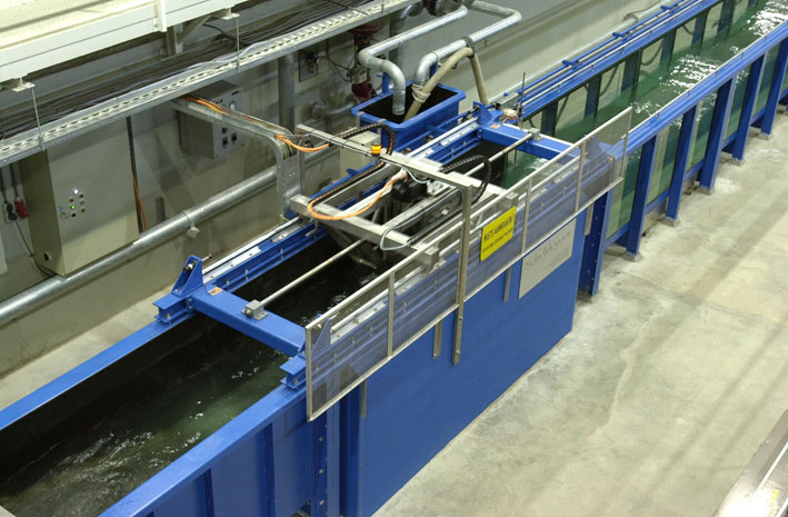 Special purpose wave flume